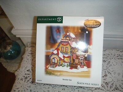 Department 56 North Pole Series -Reindeers Spa - New In Box Retired