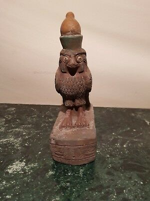 Rare Antique Ancient Egyptian Statue God Horus Falcon Unify Egypt1740-1660BC