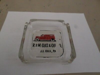Old Flying A Service Gasoline Advertising Ashtray R&M Gas & Oil CO Mill Hall PA