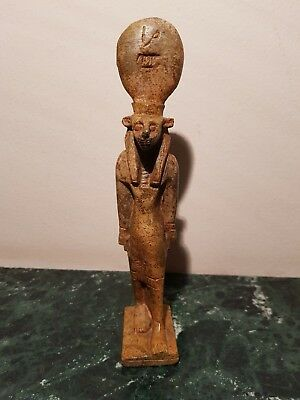 Rare Antique Ancient Egyptian Statue God Sekhmet god war Hunting1850-1760BC