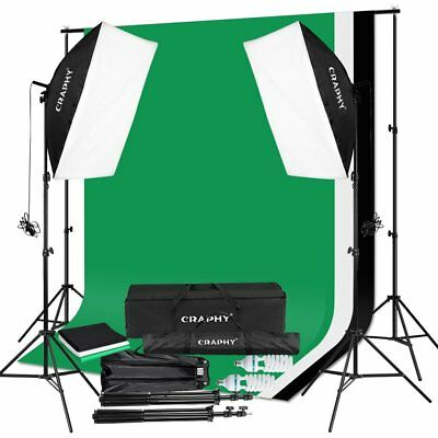CRAPHY Upgraded 50x70CM Studio Softbox Lighting Kit 2x125W Photography Continuou