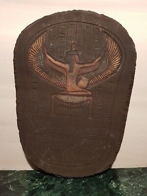 Rare Antique Ancient Egyptian Stela Goddess Isis Winged God Health 1640-1560BC