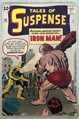 Tales of Suspense #40 4/63 Silver Age Marvel Comics 2nd App IRON MAN Tony Stark