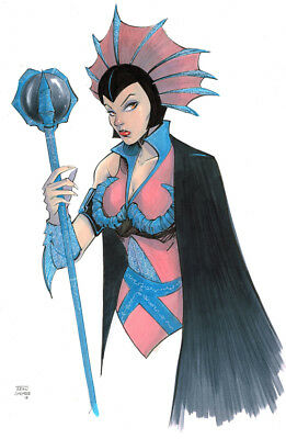 Original Art - Evil Lyn from Masters of the Universe