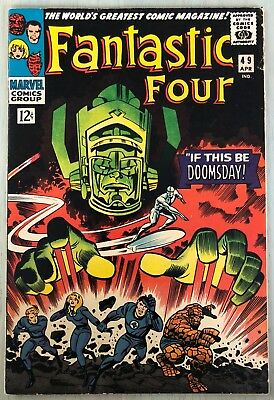Fantastic Four #49 4/66 Silver Age Marvel Key 1st Cover GALACTUS SILVER SURFER