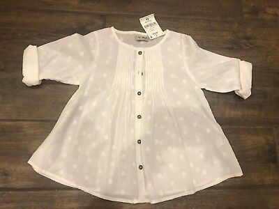 Girls White Summer Top From Next Age 3-4 BNWT