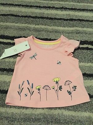 BNWT F&F Up To 1 Month Baby Girl Tshirt