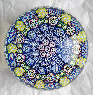 Superb Perthshire Millefiori PAPERWEIGHT  Briefbeschwerer PP204 MINT LE 1999