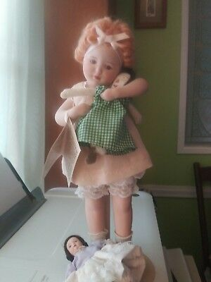 "Hamilton Collection Bessie Pease Gutman porcelain doll ""Love Is Blind"" 3 dolls"