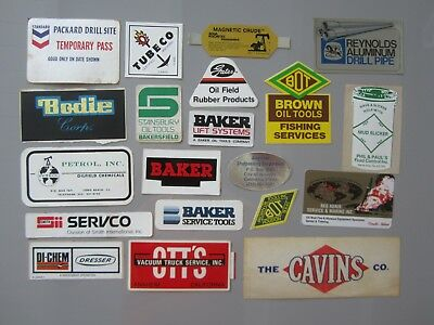 Vtg OIL Field GAS TOOL STICKERS Decal 20 LOT Bundle FUEL Station Company RARE OS