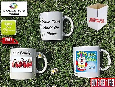 PERSONALISED TEXT PHOTO MUG Valentines Birthday Christmas Gift Tea Cup promotion