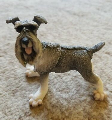 Mini Schnauzer Dog Figurine Hand Crafted --Country Artist A Breed Apart