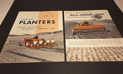 Pair Vintage Allis-Chalmers Sales Literature Brochures All-Crop Planters Drills