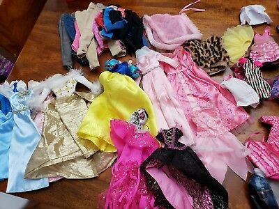 LOT of Barbie doll and Monster High clothes plus Accessories