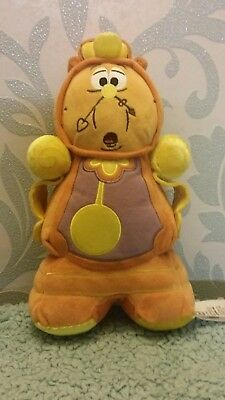 Disney Store Cogsworth Clock Plush Soft Toy Beauty And The Beast Stamped