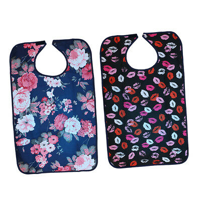 Pack of 2 Adult Bibs Mealtime Cloth Protector Patient Disability Aid Apron