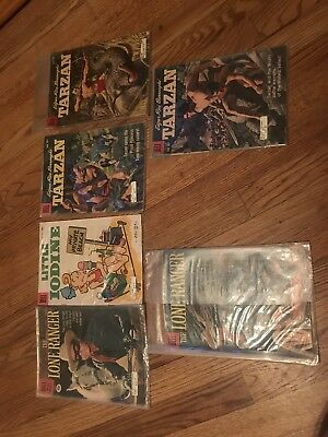 Lot Of 6 Dell Comics: The Lone Ranger, Tarzan, Little Iodine