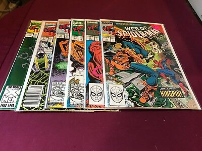 Web of Spider-man Lot 41,48,94,99,100 VF/NM