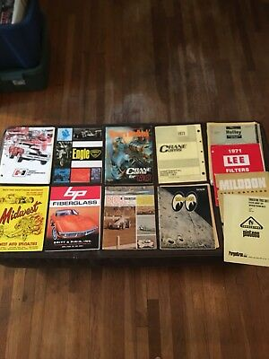Vintage Lot Bell Auto Parts Hurst Midwest Crane Cams Moon Catalogs Holley