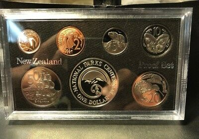 Old New Zealand Coin Set - 1987 PROOF SET - FULL PACKAGE - HIGH VALUE - Lot #715