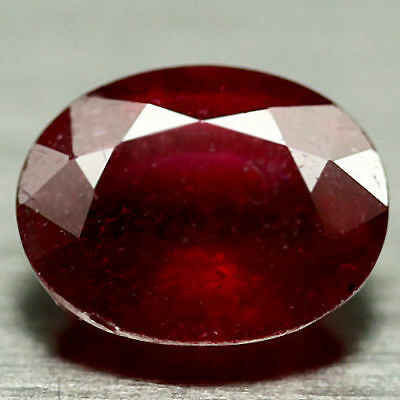 2.84 Ct Natural! Red Madagascar Ruby Glass Filled Oval