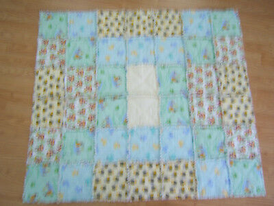 Handmade baby quilt suitable for boy or girl size 37 x 43 NEW #811