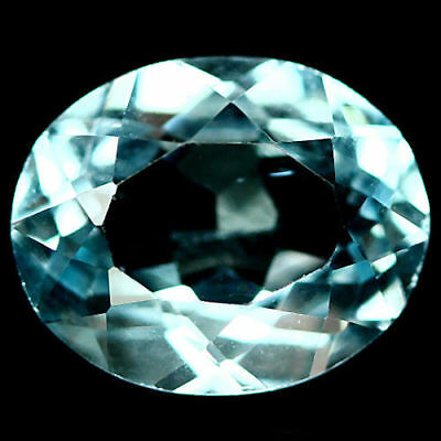 3.35 Ct Aaa! Natural! Sky Blue Brazilian Topaz Oval