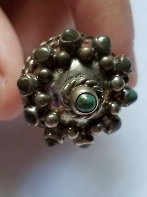 Domed Poison Ring,  opens, 11 Stones