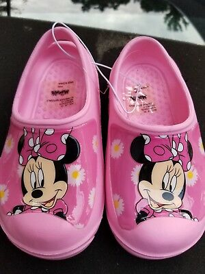 93cefe55f NEW CROCS DISNEY Light Up MICKEY MOUSE Clogs Pink Toddler Size 10 11 ...