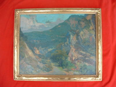 Vintage Frederick Becker oil painting - Malibu Canyon, California ca 1930