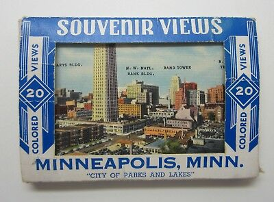 Vintage 1950's Minneapolis, MN Souvenir Views Photo Cards - In Box - Excellent!