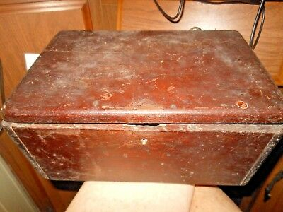 Vintage Wooden Box with insert and Lettering