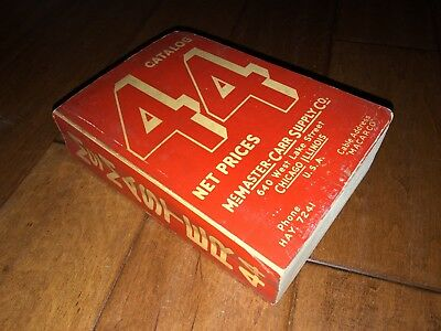 Vintage McMASTER-CARR SUPPLY CO. No. 44 CATALOG 1937 Complete!