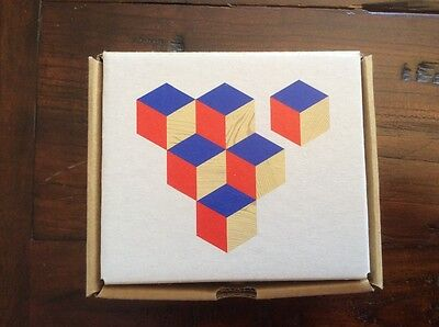 Table Tiles Coasters red/blue Areaware