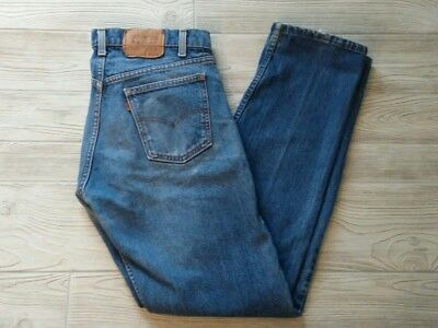 Vintage Levis 20505 0217 34x34 Orange Tab Blue Jeans Made in USA