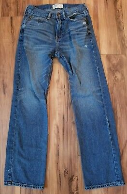 Abercrombie kid's boy's distressed medium wash classic fit jeans size 13/14
