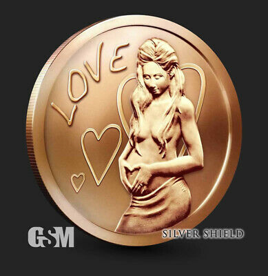 1 oz Copper Round - Love