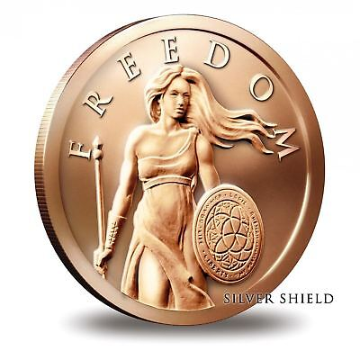 1 oz Copper Round - Standing Freedom