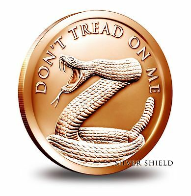 1 oz Copper Round - Don't Tread on Me Silver Shield