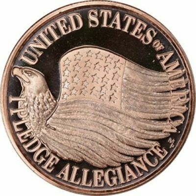 1 oz Copper Round - Pledge of Allegiance