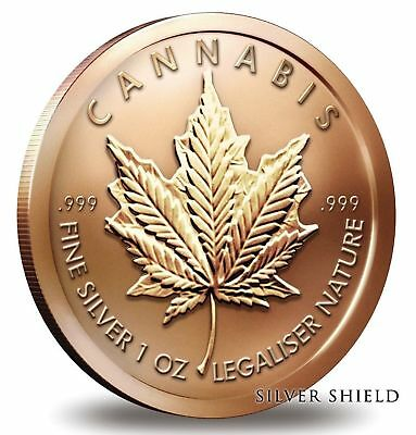 1 oz Copper Round - Cannabis
