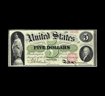 Superior 1862 $5 Legal Tender Almost Uncirculated Condition