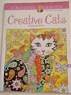 Creative Haven Coloring BksCreative Cats Book By Marjorie Sarnat