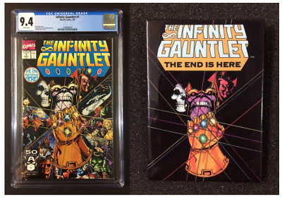 The Infinity Gauntlet #1 CGC 9.4 Unread From Personal Collection With Promo Pin