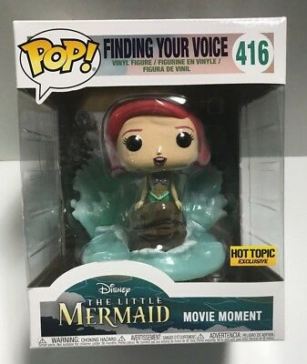 Funko Pop The Little Mermaid Ariel Finding Your Voice #416 Hot Topic Exclusive