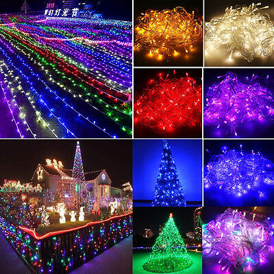 10m 20m 30m 50m 100m String Fairy Light In/Outdoor New Year Day Home Party Decor