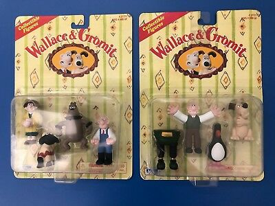 New 1989 Wallace and Gromit Collectible Figures - Irwin - RARE