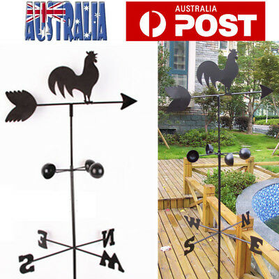 150cm Vintage Rooster Weather Vane Wind Speed Spinner Direction Garden Ornaments