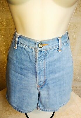 Vintage MOM JEANS 70's 80s Denim Jean Shorts High Waist Pockets Grunge Hippie