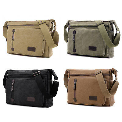 5e8a6299519 Mens Vintage Canvas Messenger Shoulder Bag Crossbody Sling School Travel  Satchel